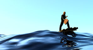 Riding the wave Stock Images