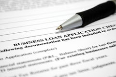 Business loan application Royalty Free Stock Images