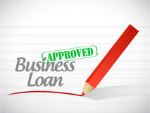 Business loan approved message illustration Royalty Free Stock Photography