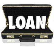 Business Loan 3d Word Briefcase Borrow Start Up Funding Stock Photography