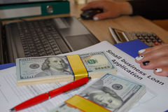 Business loans on bad credit. Business loans long term Royalty Free Stock Photo