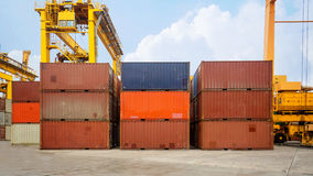 Business and logistics. Cargo transportation and storage. Equipm Royalty Free Stock Photos