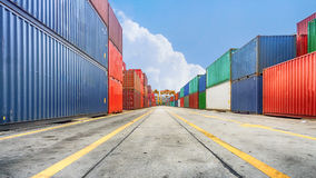 Business and logistics. Cargo transportation and storage. Equipm Royalty Free Stock Image