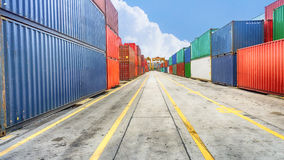 Business and logistics. Cargo transportation and storage. Royalty Free Stock Photo