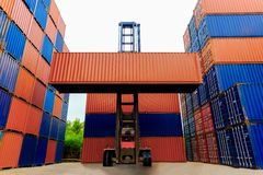 Business logistics concept, Container Cargo freight ship for Log Royalty Free Stock Image