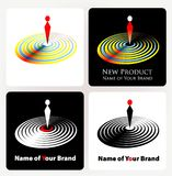 Business logo royalty free stock photos