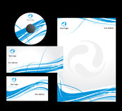 Business logo. Wave line style Business card. Vector illustration Royalty Free Stock Photography