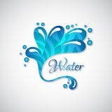 Business logo of blue water splatter, web icon Stock Image