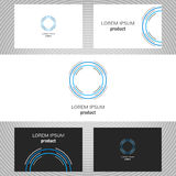 Business logo for the company. Vector polygon element for editing Stock Image