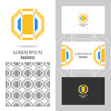 Business logo for the company. Vector polygon element for editing Royalty Free Stock Image