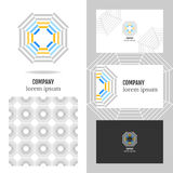 Business logo for the company. Vector polygon element for editing Royalty Free Stock Photos