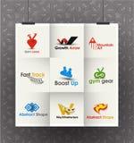 Business Logo Design. Collection of Vector Business Logo Design Set Royalty Free Stock Photos