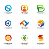 Set Of Business Logo Design Vector Template stock illustration