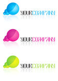 Business logo designs. Very useful, with good colors and style, reflection Stock Image