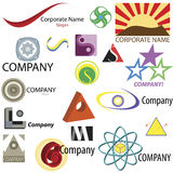 Business Logo Elements Icon Set Stock Photography