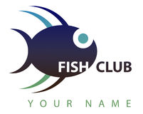 Business logo: Fish club. A logo suitable for a fish club: a nice blu fish Royalty Free Stock Image