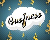 Business logo golden tie on dollar background Royalty Free Stock Photos