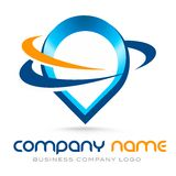 Business Logo. Illustration representing a business company logo  that can be used for business and financial institutions Stock Photo