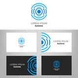 Business logo. Round icon for the business of the company. Vector design element for editing. Business card Stock Image