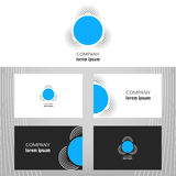 Business logo. Round icon for the business of the company. Vector design element for editing. Business card Stock Images