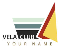 Business logo: Vela club Royalty Free Stock Image