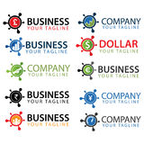 Business logos and icons collection. Can be used for logos, icons, buttons, colors can be changed Stock Photo