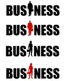 Business Logos Man and Woman. An illustration featuring your choice of 4 Business logos in black and black/red - for male and female business themes Royalty Free Stock Images