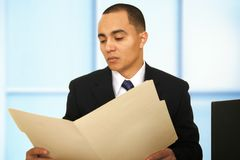 Business Looking At Report royalty free stock image