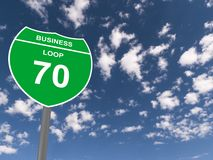 Business loop 70 sign Stock Images