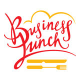 Business Lunch. Fork knife food breakfast decorative sign Stock Image