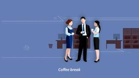 Business lunch break video footage stock video