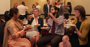 Business-Lunch-Bruch stock video footage