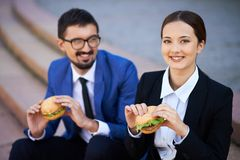 Business lunch Royalty Free Stock Photography