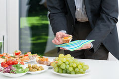 Business lunch with colorful snacks Royalty Free Stock Image