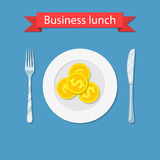 Business lunch concept i Royalty Free Stock Photos