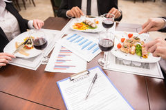 Business lunch Royalty Free Stock Photo