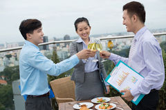 On a business lunch Royalty Free Stock Images