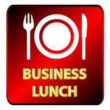 Business lunch logo Stock Image