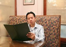 business lunch man ordering 图库摄影