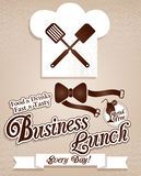 Business lunch.Menu Stock Photography