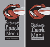 Business lunch menu Stock Photo