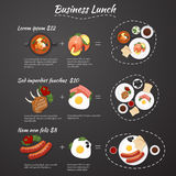 Business lunch menu Stock Photos