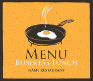 Business lunch stock illustration
