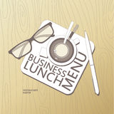 Business Lunch Menu template. Stock Photos