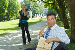 Business lunch outdoor Stock Image