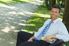 Business lunch outdoor Stock Photography