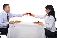 Business lunch people royalty free stock photos