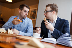 Business lunch Royalty Free Stock Photos