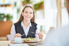 Business-Lunch zu Mittag essen stockbilder