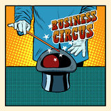 Business magic hat circus illusionist Stock Photos